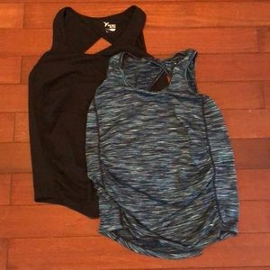 Two Old Navy maternity workout tanks size M